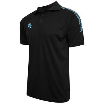 Afbeeldingen van Dual Solid Colour Polo - Black/Sky