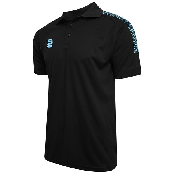 Afbeelding van Dual Solid Colour Polo - Black/Sky