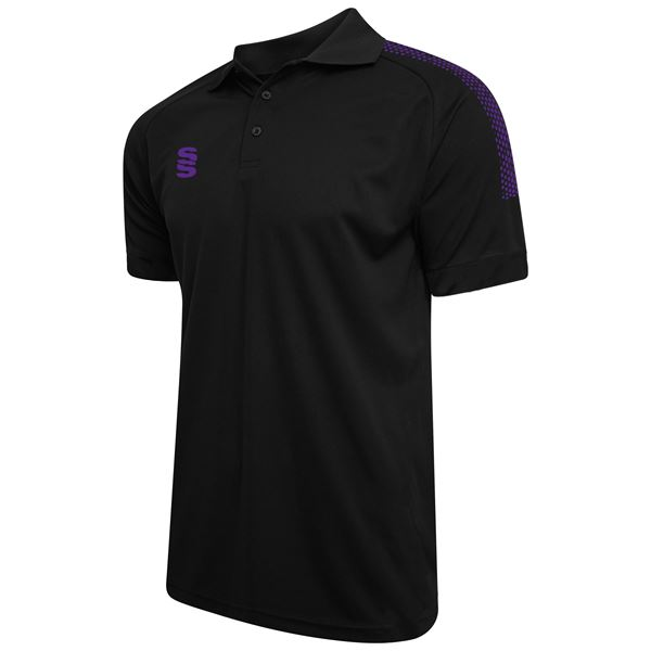 Bild von Dual Solid Colour Polo - Black/Purple