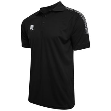 Picture of Dual Solid Colour Polo - Black/Silver