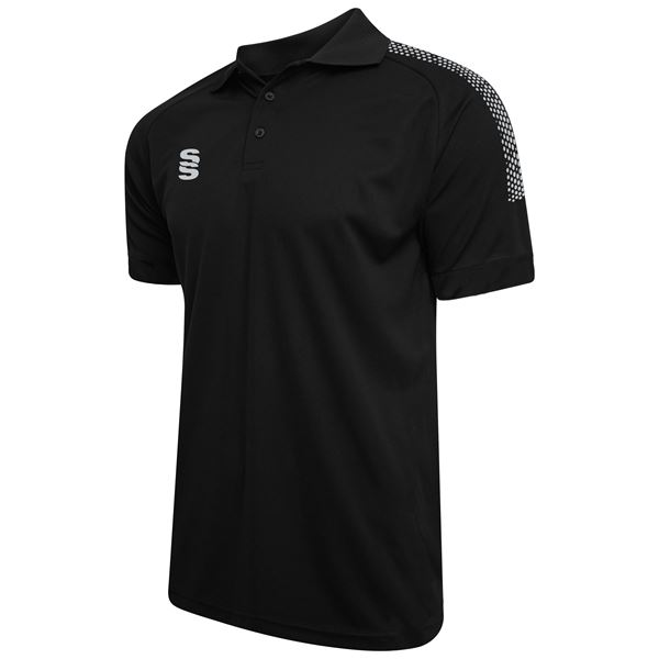 Afbeelding van Dual Solid Colour Polo - Black/Silver