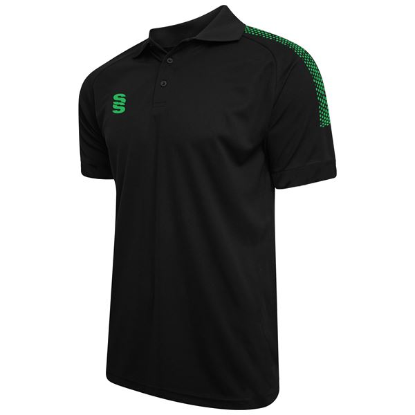 Picture of Dual Solid Colour Polo - Black/Emerald