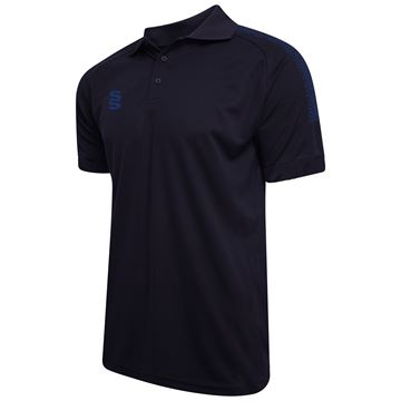 Picture of Dual Solid Colour Polo Navy/Royal