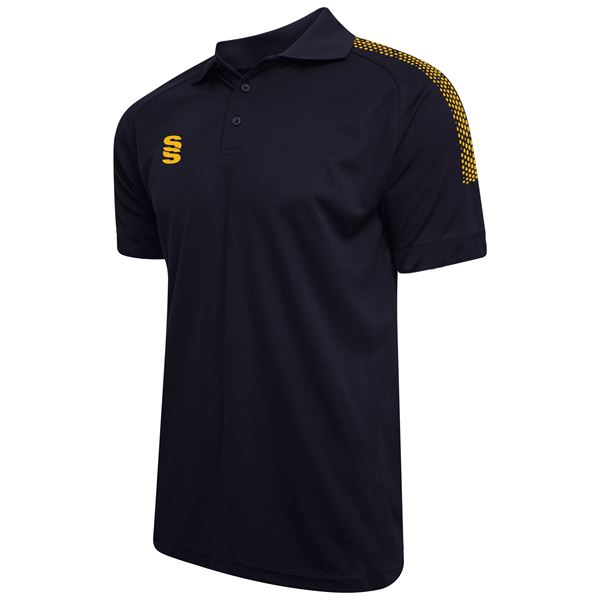 Afbeelding van Dual Solid Colour Polo - Navy/Amber
