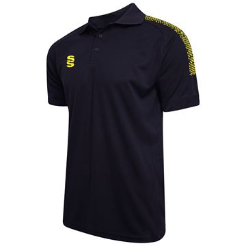 Afbeeldingen van Dual Solid Colour Polo - Navy/Yellow