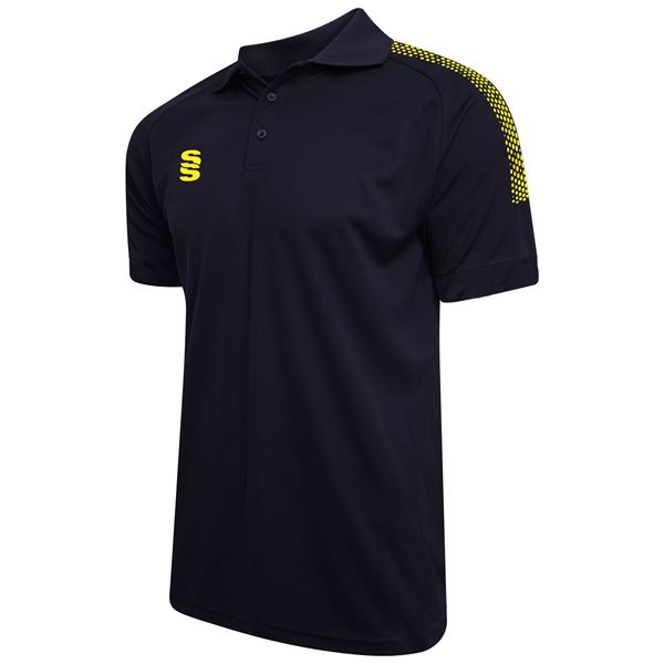 Image sur Dual Solid Colour Polo - Navy/Yellow