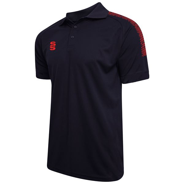 Picture of Dual Solid Colour Polo - Navy/Red