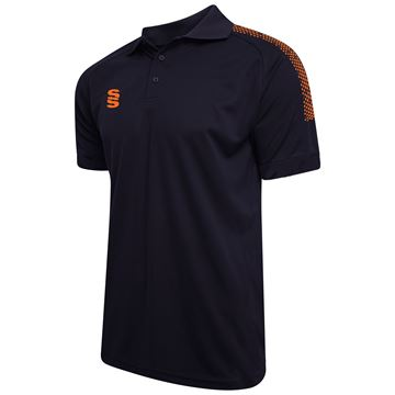 Bild von Dual Solid Colour Polo - Navy/Orange