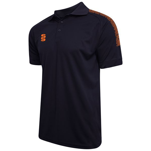 Picture of Dual Solid Colour Polo - Navy/Orange