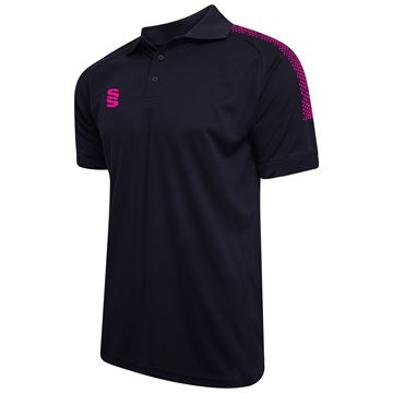 Bild von Dual Solid Colour Polo - Navy/Pink