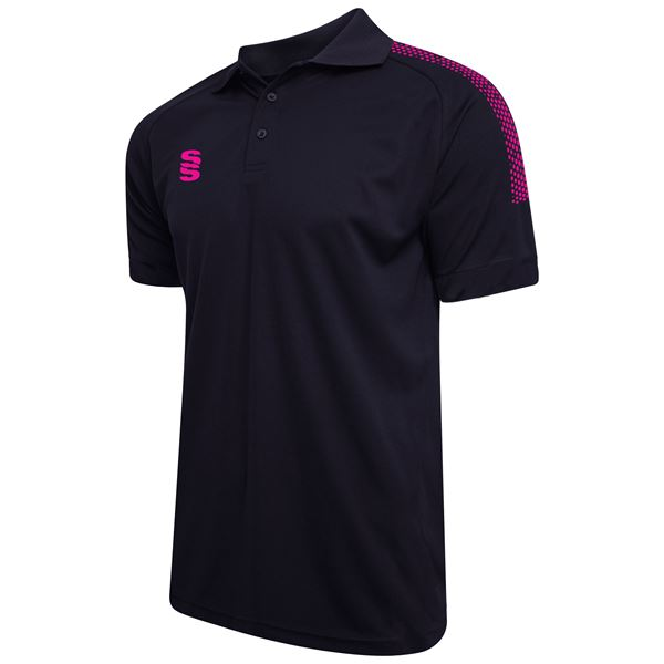 Picture of Dual Solid Colour Polo - Navy/Pink