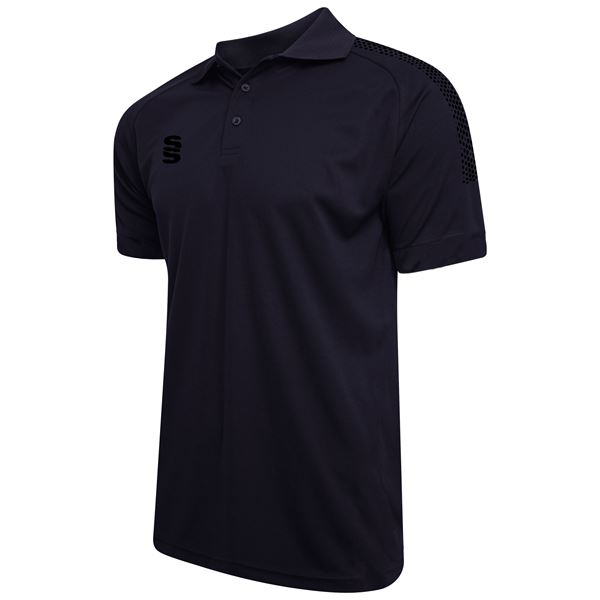 Picture of Dual Solid Colour Polo - Navy/Black