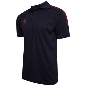 Bild von Dual Solid Colour Polo - Navy/Maroon