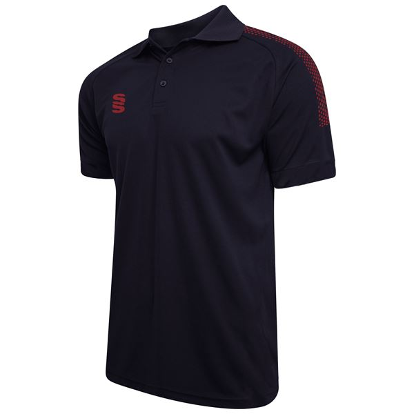 Picture of Dual Solid Colour Polo - Navy/Maroon