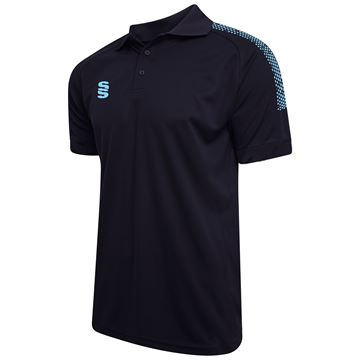 Bild von Dual Solid Colour Polo - Navy/Sky