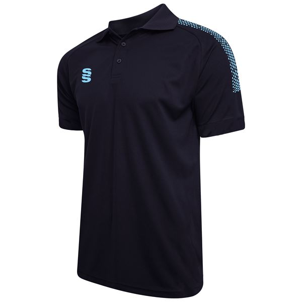 Picture of Dual Solid Colour Polo - Navy/Sky