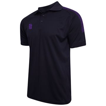 Bild von Dual Solid Colour Polo - Navy/Purple