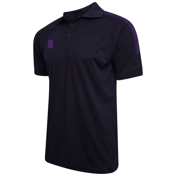 Picture of Dual Solid Colour Polo - Navy/Purple