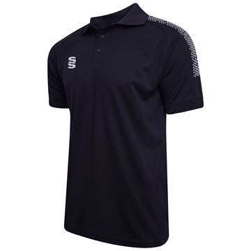 Picture of Dual Solid Colour Polo - Navy/Silver