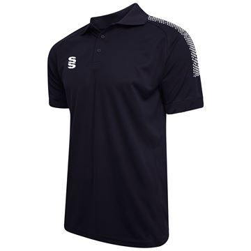 Bild von Dual Solid Colour Polo - Navy/White