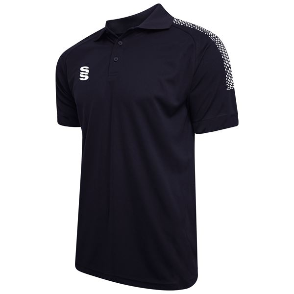 Picture of Dual Solid Colour Polo - Navy/White