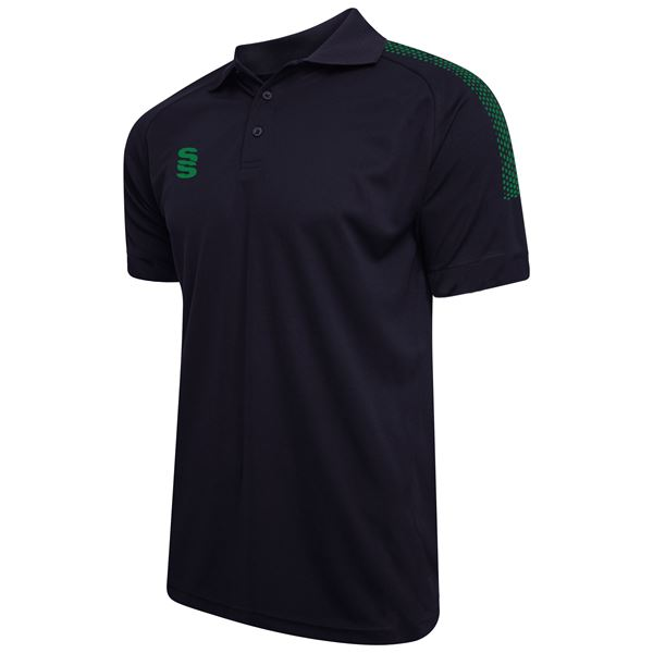 Picture of Dual Solid Colour Polo - Navy/Bottle
