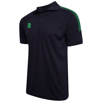 Bild von Dual Solid Colour Polo - Navy/Emerald