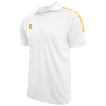 Image de Dual Solid Colour Polo - White/Amber