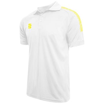 Afbeeldingen van Dual Solid Colour Polo - White/Yellow