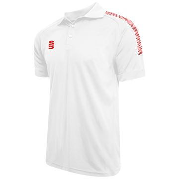 Imagen de Dual Solid Colour Polo - White/Red