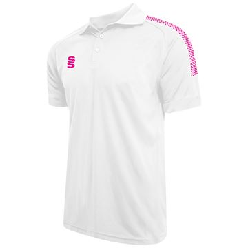 Picture of Dual Solid Colour Polo - White/Pink