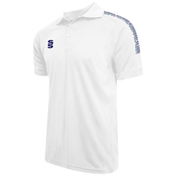 Picture of Dual Solid Colour Polo - White/Navy