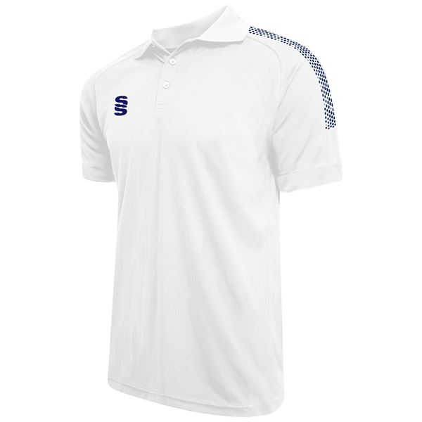 Afbeelding van Dual Solid Colour Polo - White/Navy