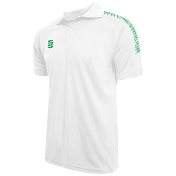 Imagen de Dual Solid Colour Polo - White/Emerald