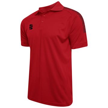 Bild von Dual Solid Colour Polo - Red/Black