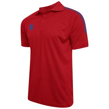Afbeeldingen van Dual Solid Colour Polo - Red/Royal