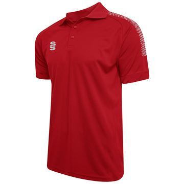 Picture of Dual Solid Colour Polo - Red/Silver