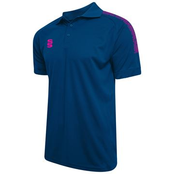 Picture of Dual Solid Colour Polo - Royal/Pink