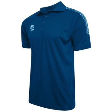 Afbeeldingen van Dual Solid Colour Polo - Royal/Sky