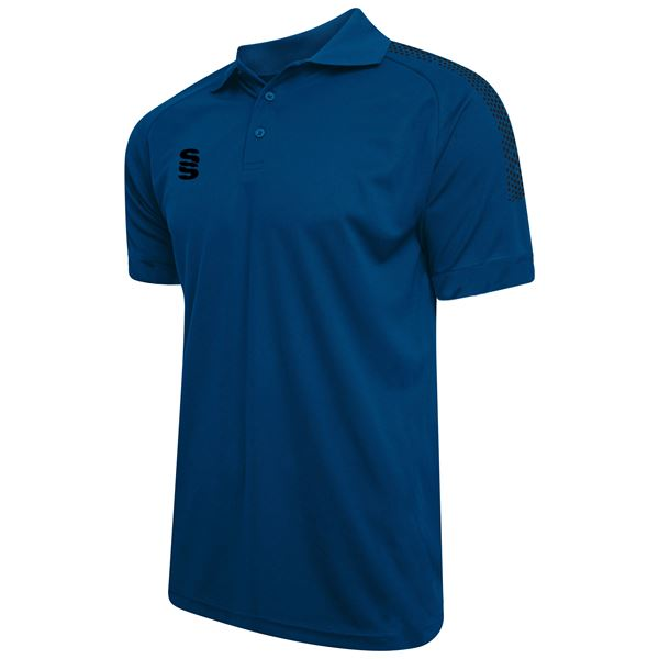 Picture of Dual Solid Colour Polo - Royal/Black