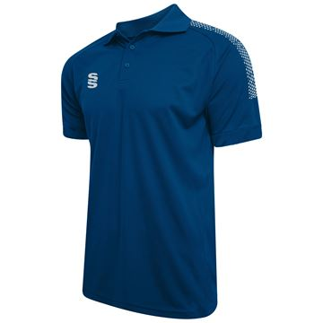 Imagen de Dual Solid Colour Polo - Royal/Silver