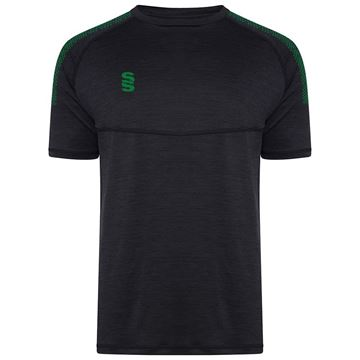 Afbeeldingen van Dual Gym T-Shirt- Black Melange/Bottle