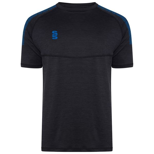 Picture of Dual Gym T-Shirt- Black Melange/Royal