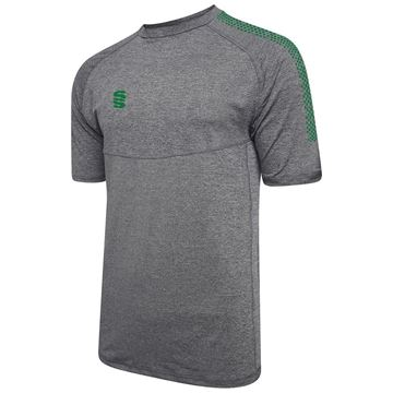 Picture of Dual Gym T-Shirt- Grey Melange/Bottle