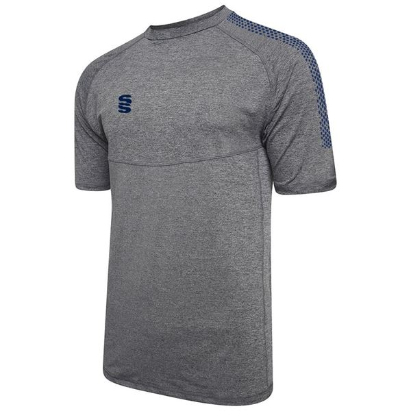 Picture of Dual Gym T-Shirt- Grey Melange/Navy