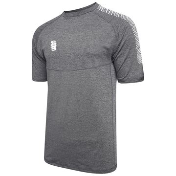 Image de Dual Gym T-Shirt- Grey Melange/White