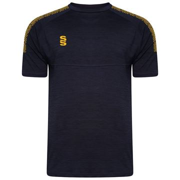 Picture of Dual Gym T-Shirt- Navy Melange/Amber