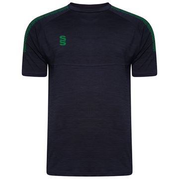Image de Dual Gym T-Shirt- Navy Melange/Bottle