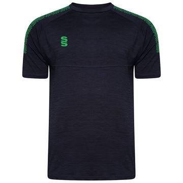Picture of Dual Gym T-Shirt- Navy Melange/Emerald