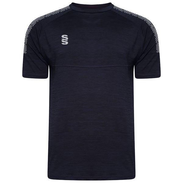 Picture of Dual Gym T-Shirt- Navy Melange/Grey